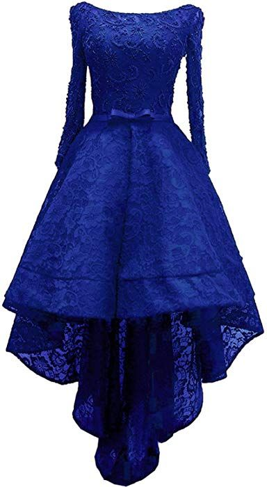 Amazoncom Rong Store Womens High Low Lace Prom Party