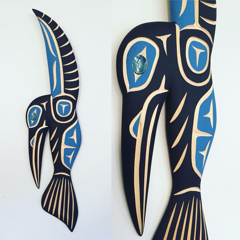 Northwest Coast Native Art HUMMINGBIRD By Artist Harvey