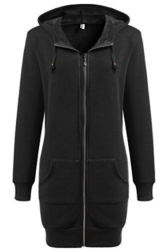 Zeagoo Lady Autumn Sweater Coat Winter Hoodie Cotton Long Shirt ...