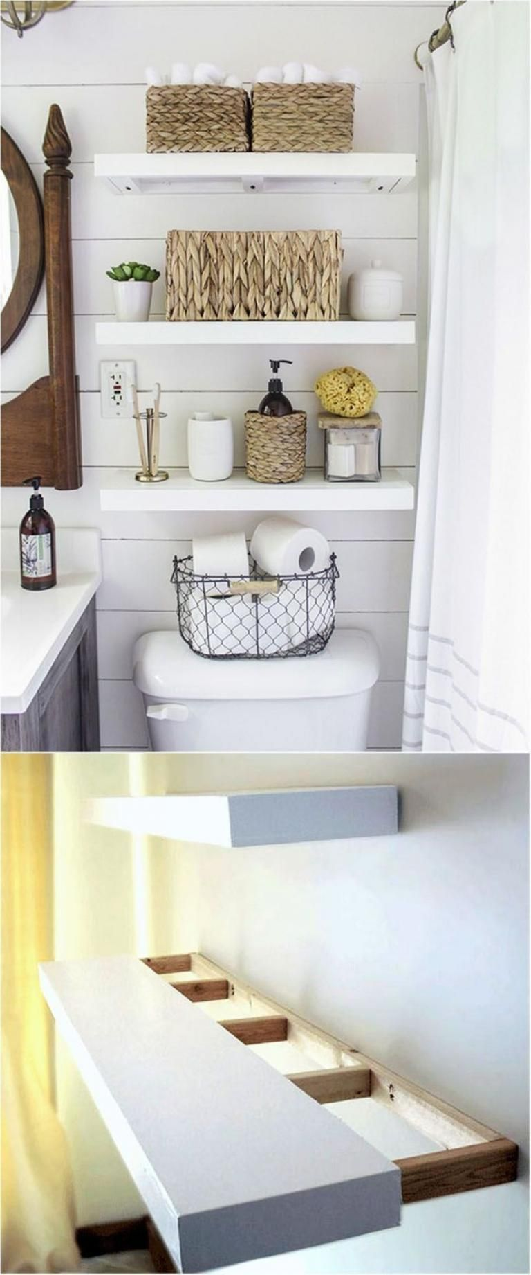 Best DIY Floating Shelves and Bathroom Ideas Shelves