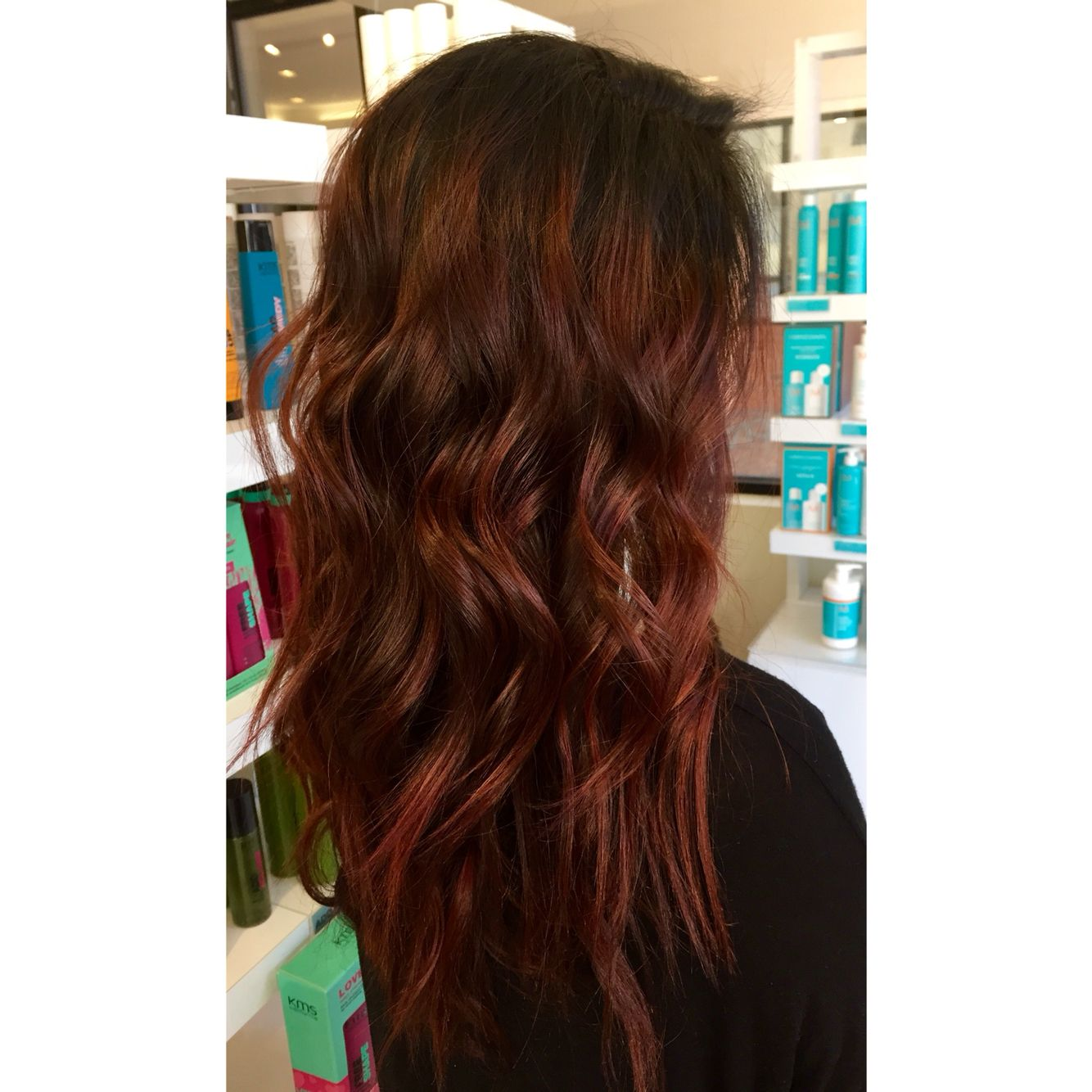 Dark Root And Dark Copper Red Color Melt Hair Ive Done