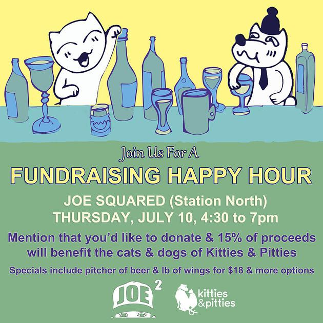 Kitties & Pitties | Happy Hour Fundraiser at Joe Squared in Station North on July 10