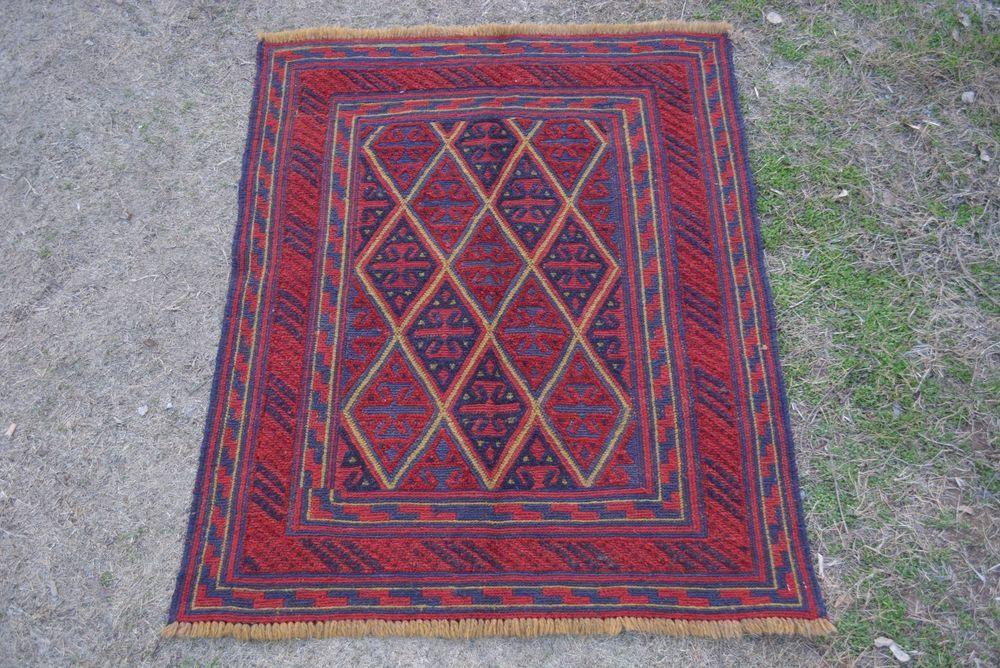 vintage afghan tribal handmade mushvani square rug kilim turkish rug persian rug #Handmade #Tribal