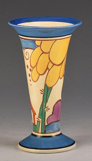 Clarice Cliff Summerhouse 280 Shape Vase Circa 1931 Clarice