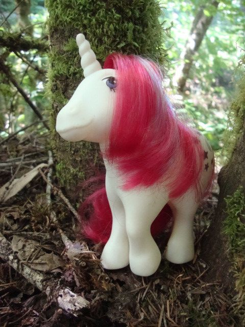 MLP Adult Unicorn Moon Dancer, stepping out of the enchanted forest