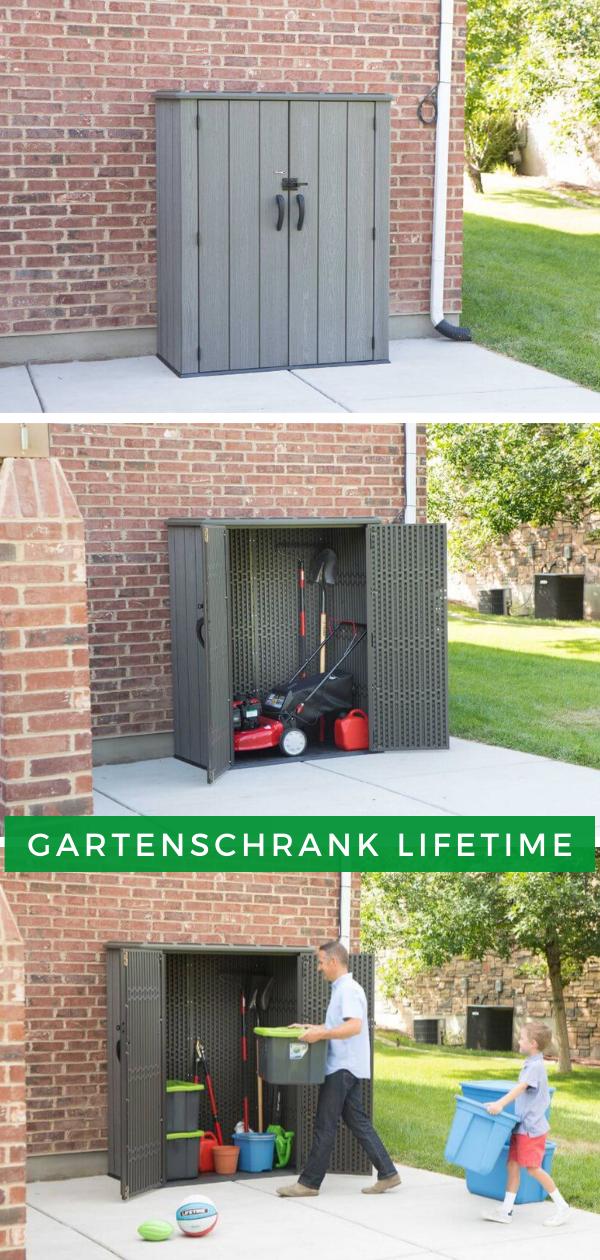 Gartenschrank Wasserdicht Gerate Und Gartenschrank Lifetime Gartenschrank Gerateschrank Garten Aufbewahrung Garten