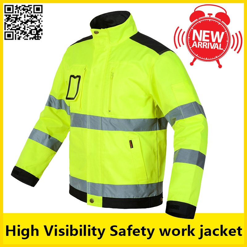 49.00$  Buy here - http://alili6.worldwells.pw/go.php?t=32663893284 - High visibility Men outdoor Tops workwear multi-pockets  safety reflective work jacket  free shipping 49.00$
