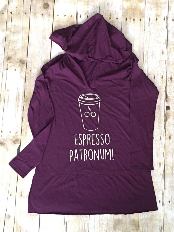 Espresso Patronum Harry Potter Tunic Style Light Hoodie T Shirt Tank ...