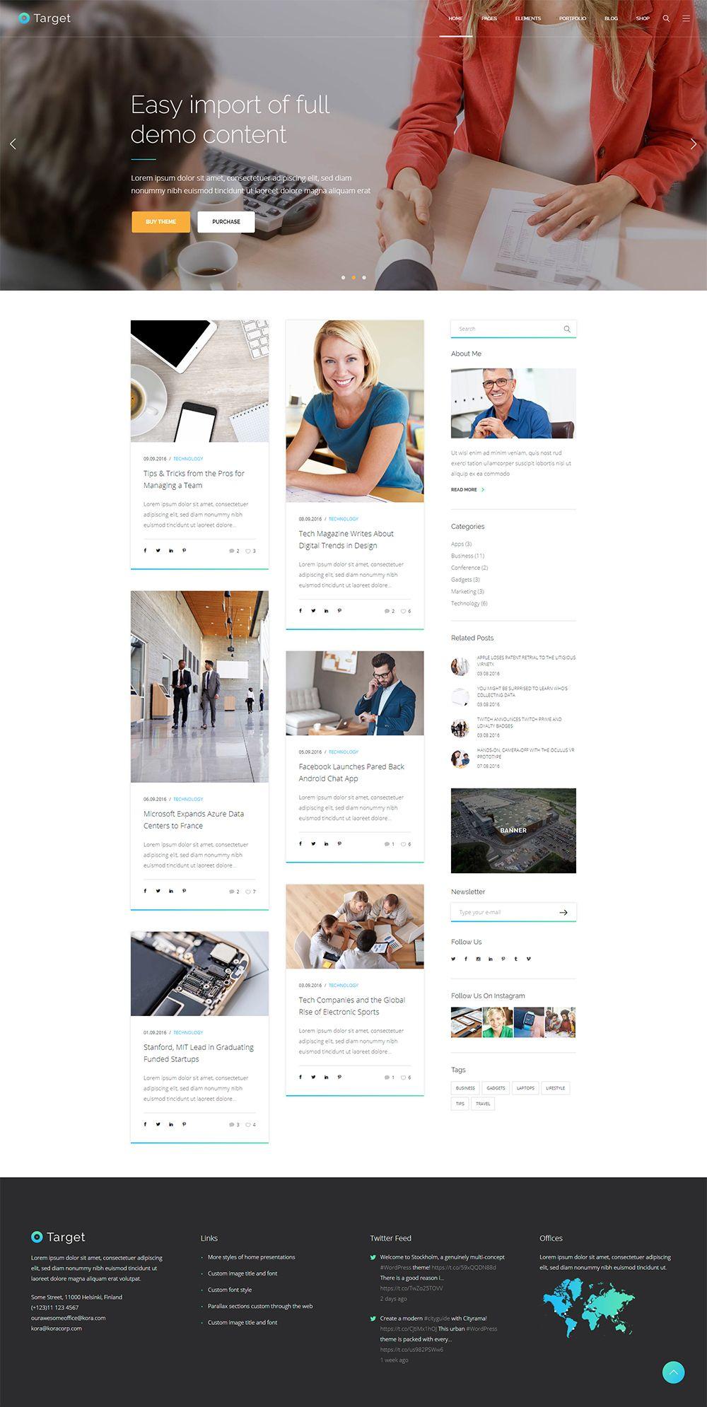 Target Blog Masonry Website Design Website Creation Design