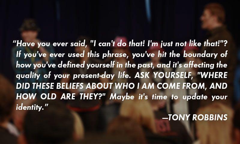 tony robbins personal mission statement
