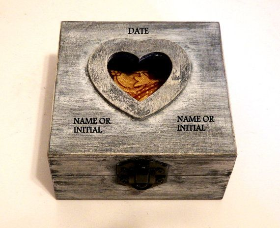 Wedding Gifts For Personalized Ring Box Por Tutorialpaper