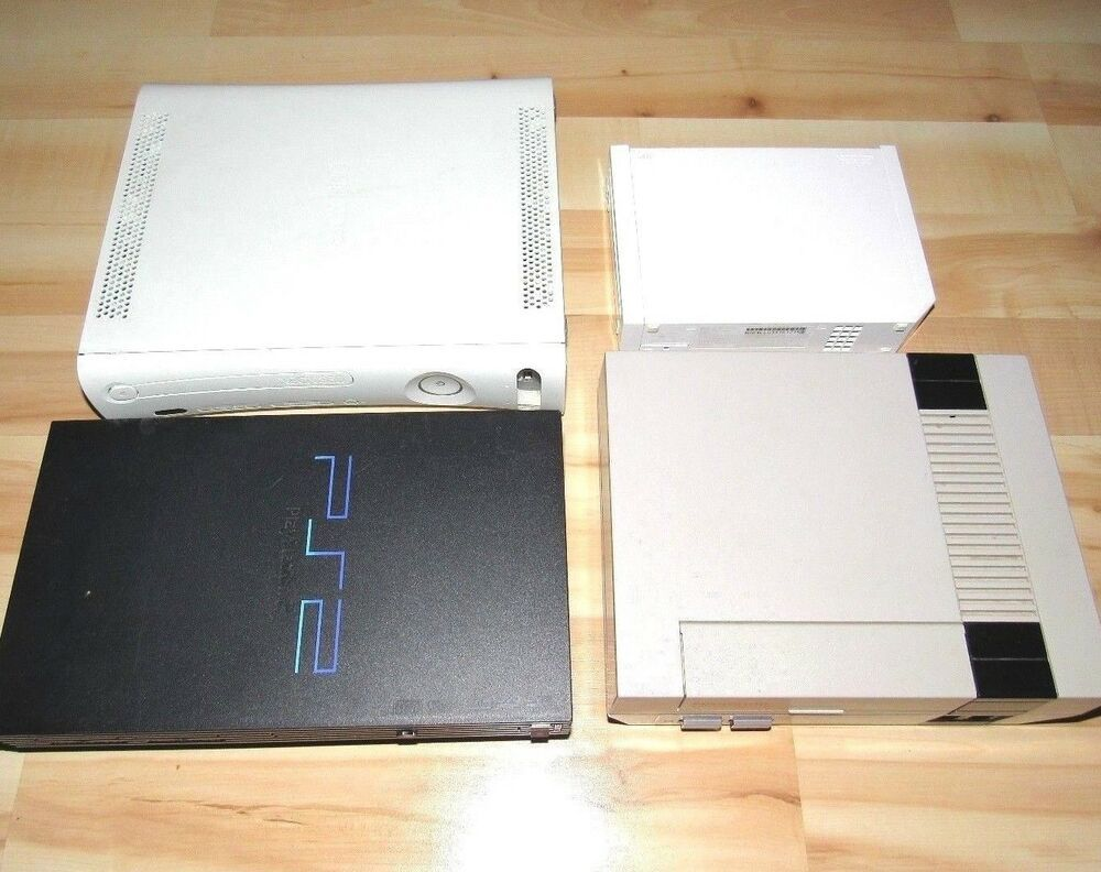 4 Game Consoles Lot AS-IS For Parts Nintendo NES Xbox 360
