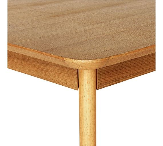 Hygena Retro Dining Table Solid Beech Ash Veneer At Argos Co