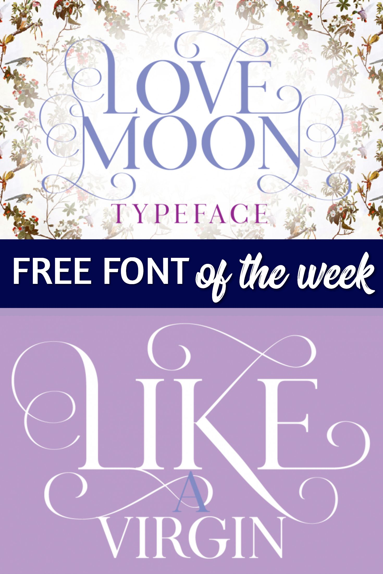 FREE FONT ♥ Love Moon is a charming serif fonts with 500+ glyphs ...