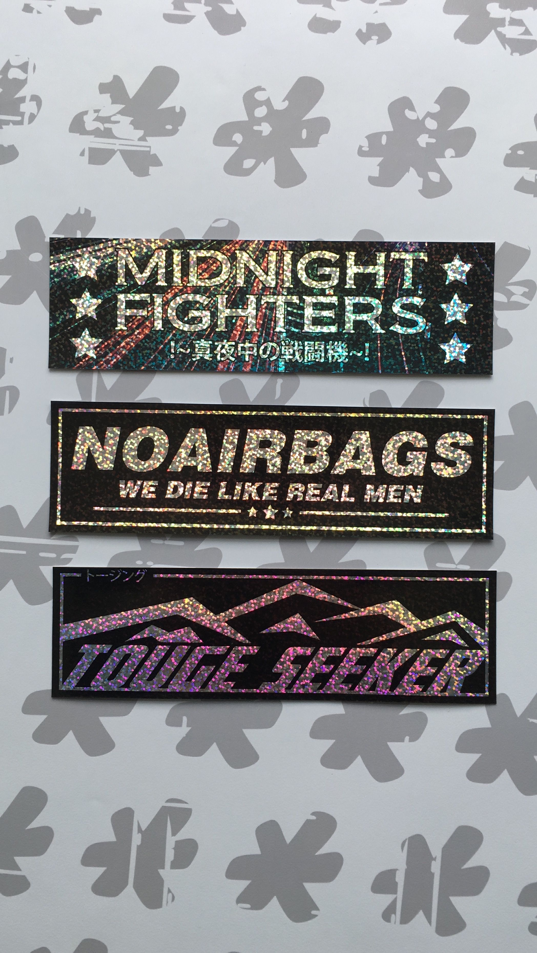 Fresh new sparkling slap stickers can be found at our shop