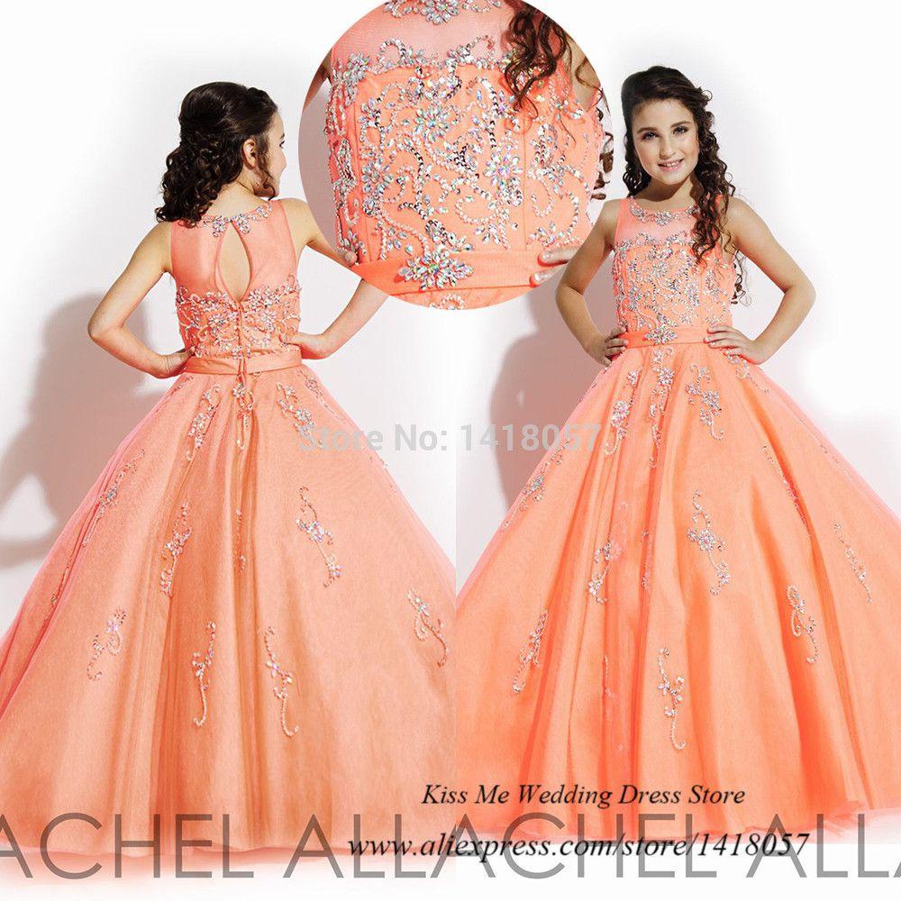 Encontre mais Vestidos de Dama de Honra Informações sobre Vestido de Daminha laranja Vestido de baile…