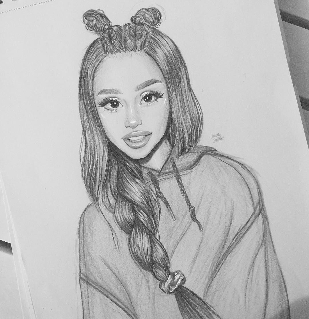Art belongs to marlysophie on instagram arianagrande drawing art colour pencil drawing