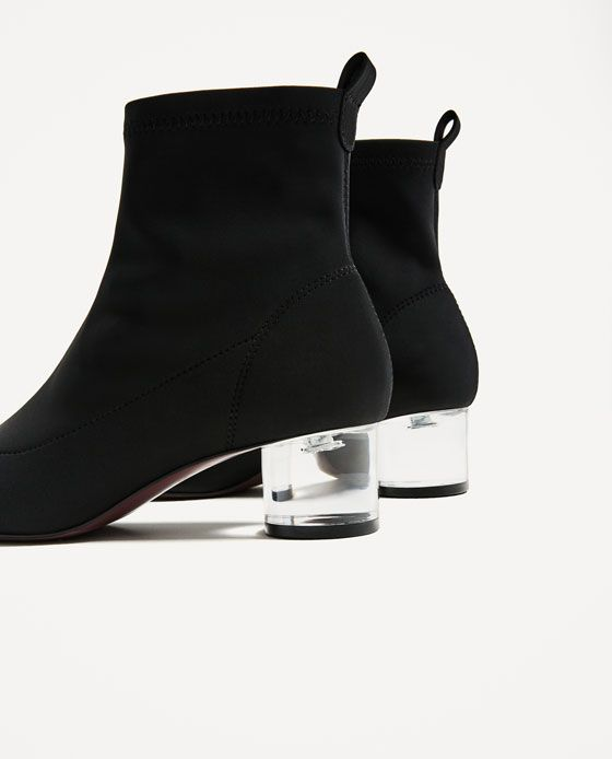 b58ce3afe360 Image 4 of ANKLE BOOTS WITH METHACRYLATE HEEL from Zara