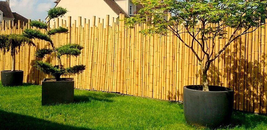 Cloture En Bambou Zen Jardin Terrasse Idee Nature Avec Images