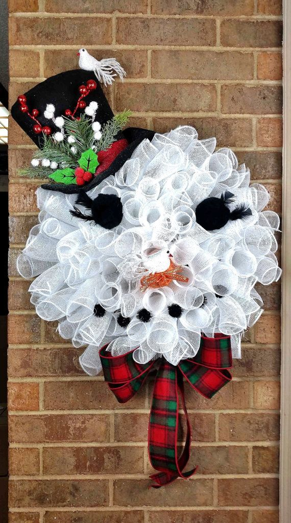 Top Hat Snowman Wreath Snowman Face Wreath By Pleasantexpressions