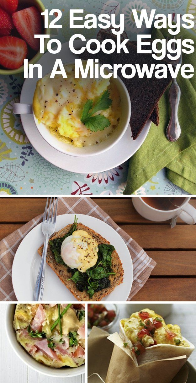 12 Easy Ways To Cook Eggs In A Microwave Ways to cook