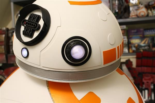 XRobots' James Bruton has revealed his V2 3D printed Star Wars BB-8 droid that, unlike many previous versions, features a single axis hubless wheel and a magnetic head coupling. The result is a life-size, functional BB-8 that looks and moves just like its on-screen counterpart.