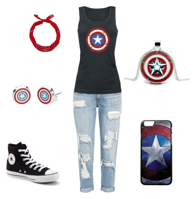 """""""Captain America Fan Girl (CAFG)"""" by parisstarquaintance ❤ liked on Polyvore featuring art"""