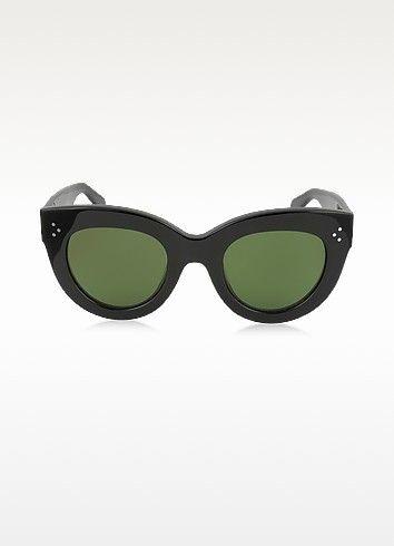 7a7aea9a16b CELINE Caty Cl 41050 S 8071E Black Acetate Cat Eye Women S Sunglasses.   celine  caty cl 41050 s 8071e black acetate cat eye women