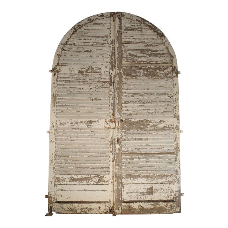 Pair Of Large Antique French Door Shutters From A Chateau 19th Century In 2020 Antique French Doors French Door Shutters French Antiques