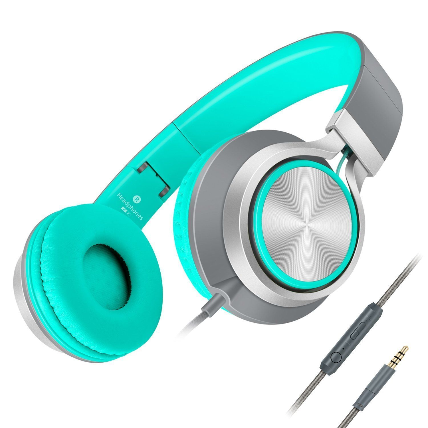 240cc4a31d9dcd Amazon.com: Headphones,AILIHEN C8 Lightweight Foldable Headphone with Microphone  Mic and Volume Control for iPhone,iPad,iPod,Android Smartphones,PC,Laptop  ...