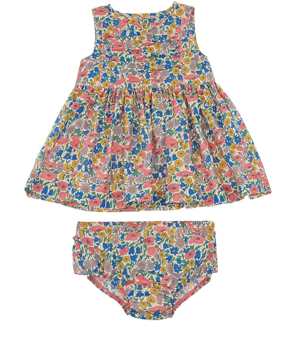 Designer Baby Clothes London | Liberty London Age 3m To 18m Mirabelle Print Dress Baby Clothing