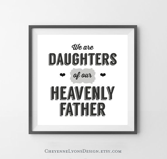LDS Young Women Theme We Are Daughters Of by CheyenneLyonsDesign