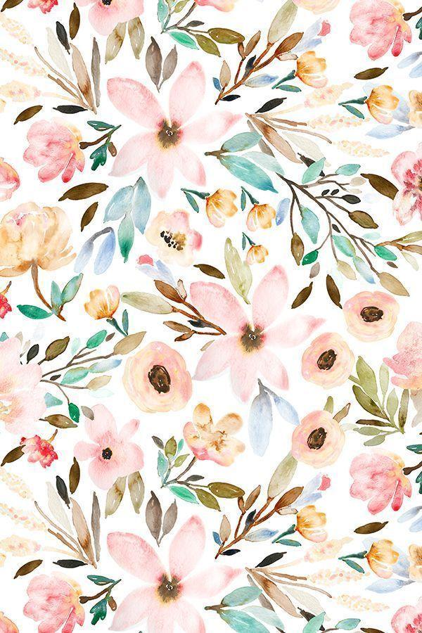 Aquarellblumenmuster von indybloomdesign #floral #