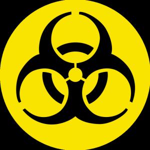Vector Clip Art Of Round Bio Hazard Sign Public Domain Vectors Hazard Sign Symbols Symbol Design
