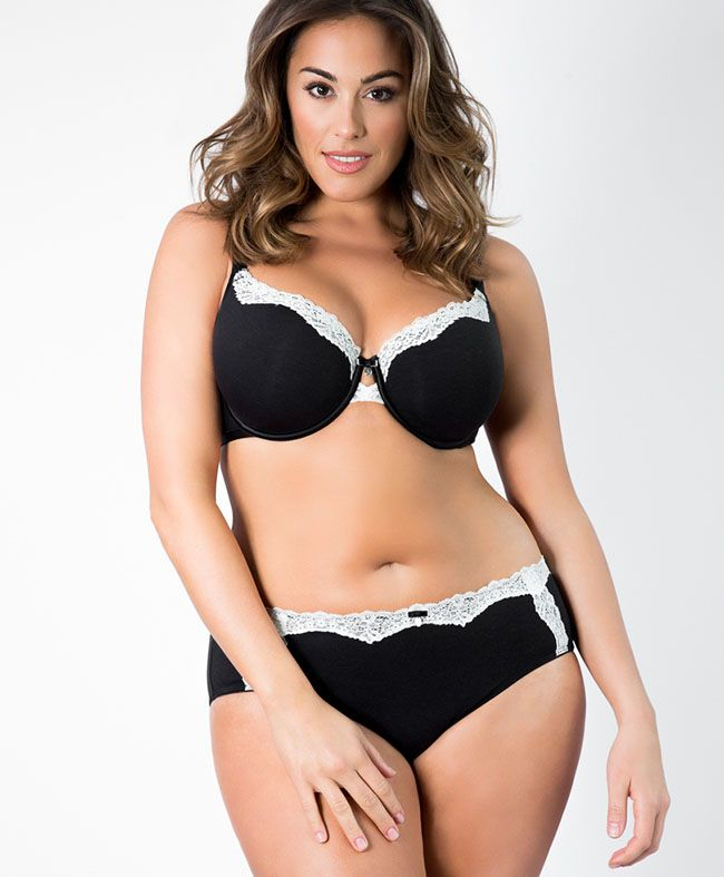 curvy couture perfect plunge t shirt bras curvy. Black Bedroom Furniture Sets. Home Design Ideas