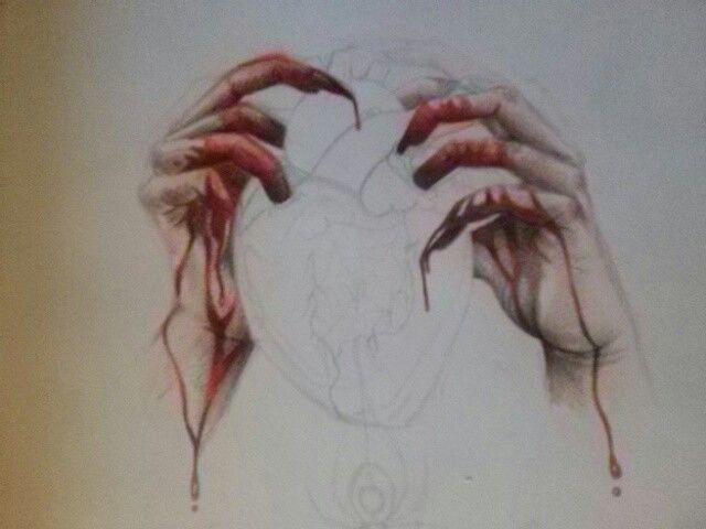 Corazon Sangrando Proceso Mis Dibujos Corazones Dibujos