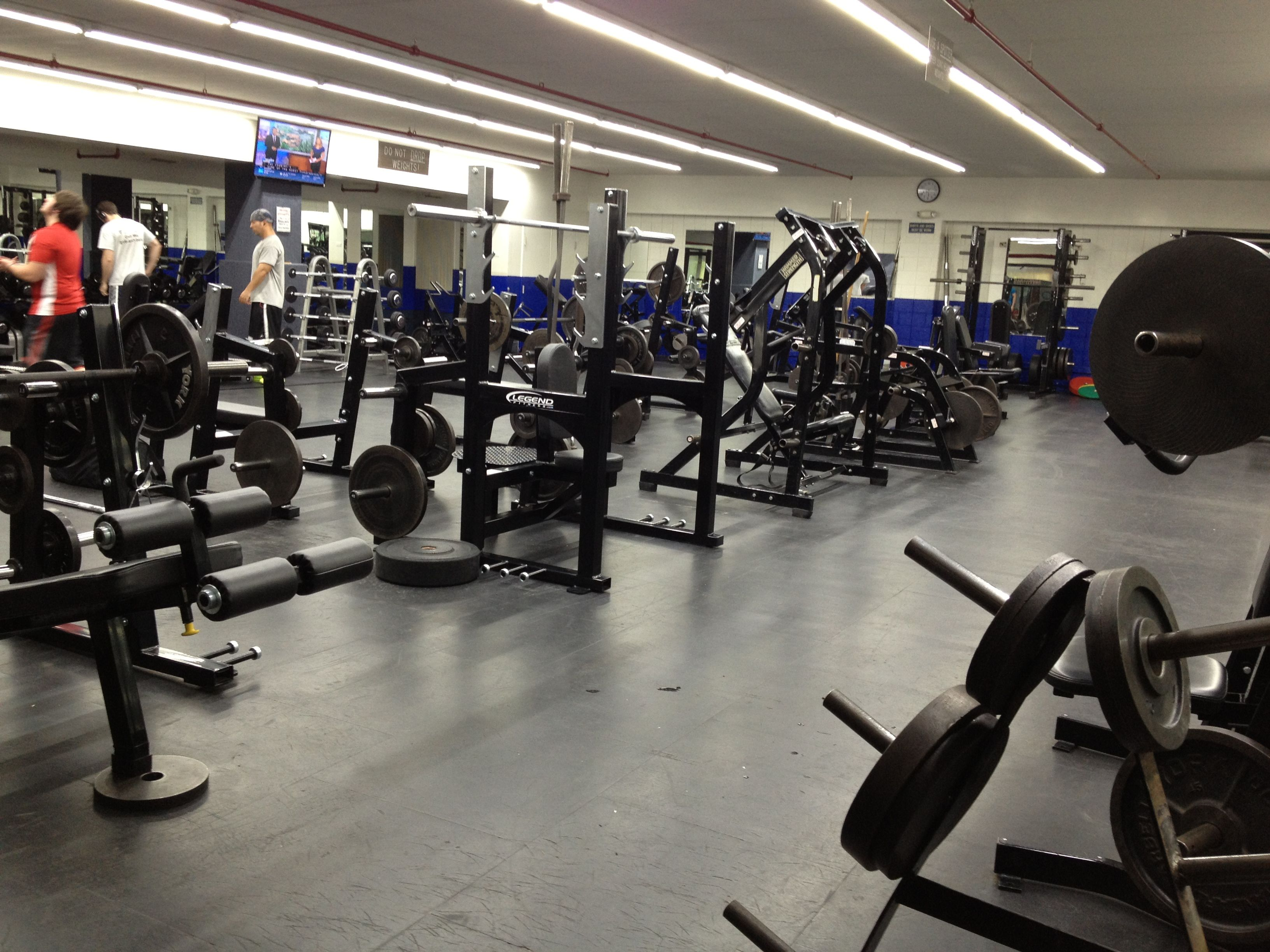 Cfc S Free Weight Room Offers A Full Range Of Equipment Including Dumbbells Barbells Racks Benches And More Fitness Club Free Weight Workout Session