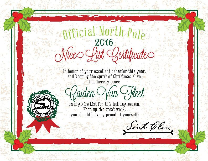 Details about 2019 Christmas Letter From Santa Nice List