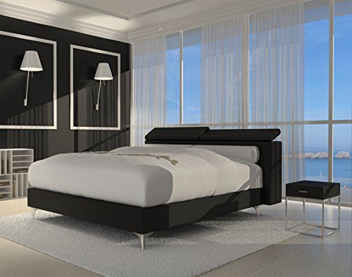 sam design boxspringbett wendigo luciano schwarz mit 7 zonen h3 taschenfederkern matratze und. Black Bedroom Furniture Sets. Home Design Ideas