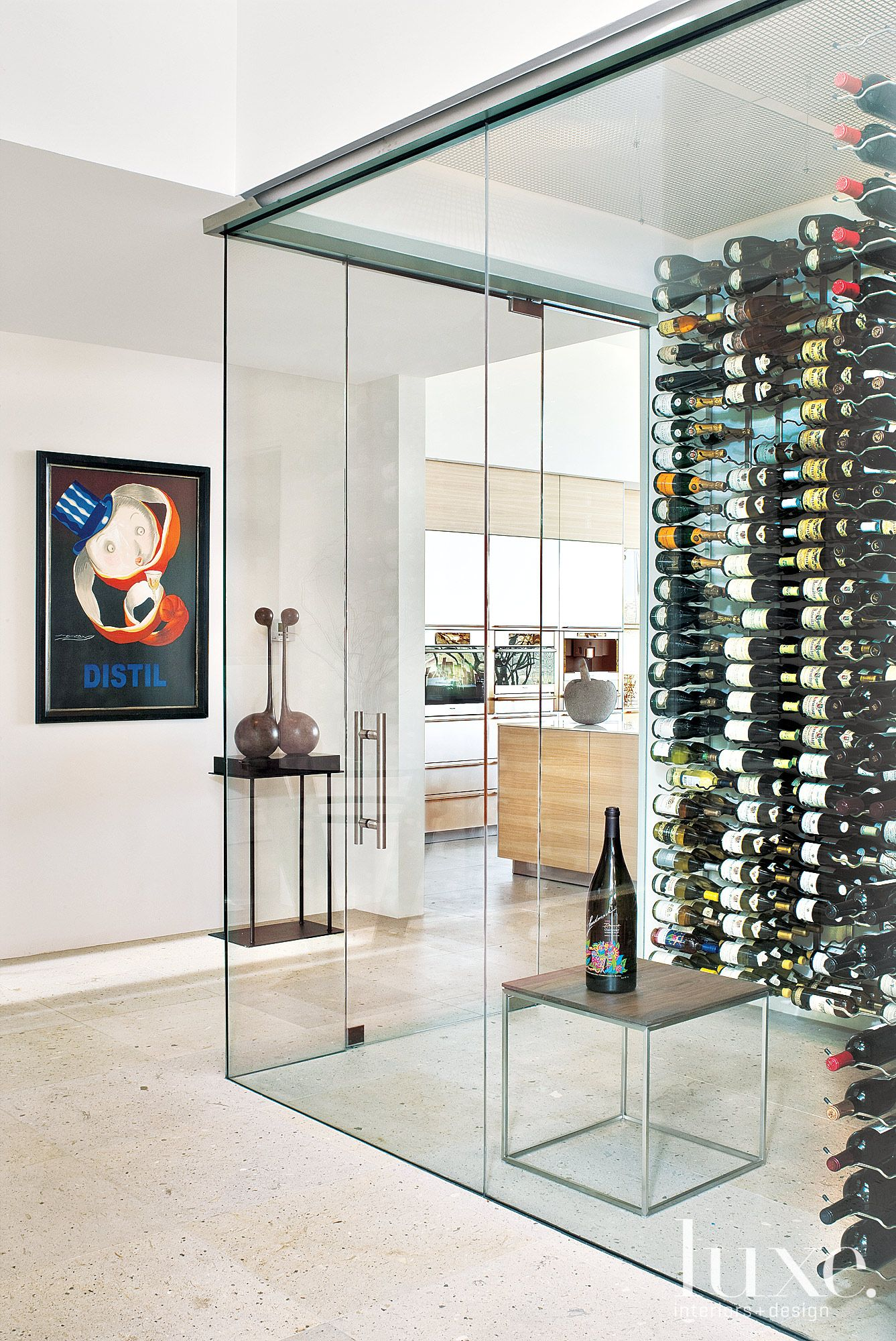 Okay. So maybe this modern glass wine cellar is going a bit far ...