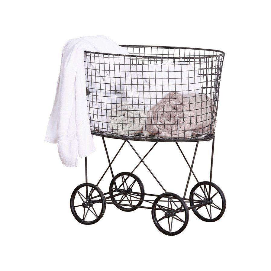 Wheeled Wire Laundry Basket | Organization | Pinterest | Laundry ...