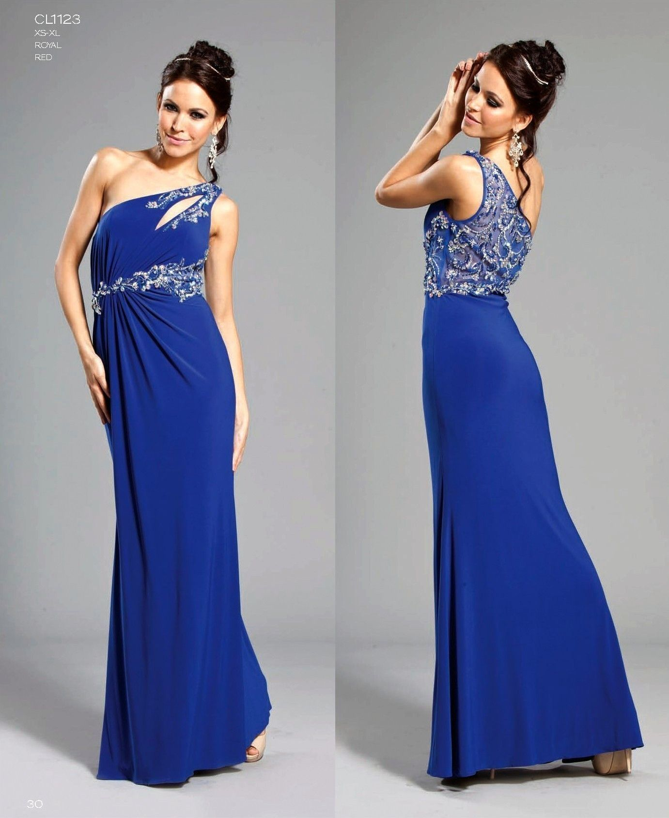 long navy blue prom dress with one strap | ... dresses home aspcl ...