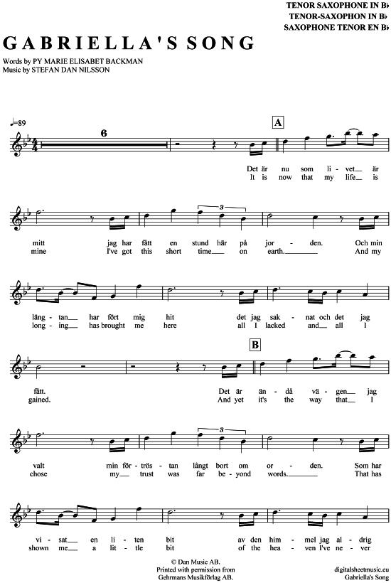 Song for guy noten pdf