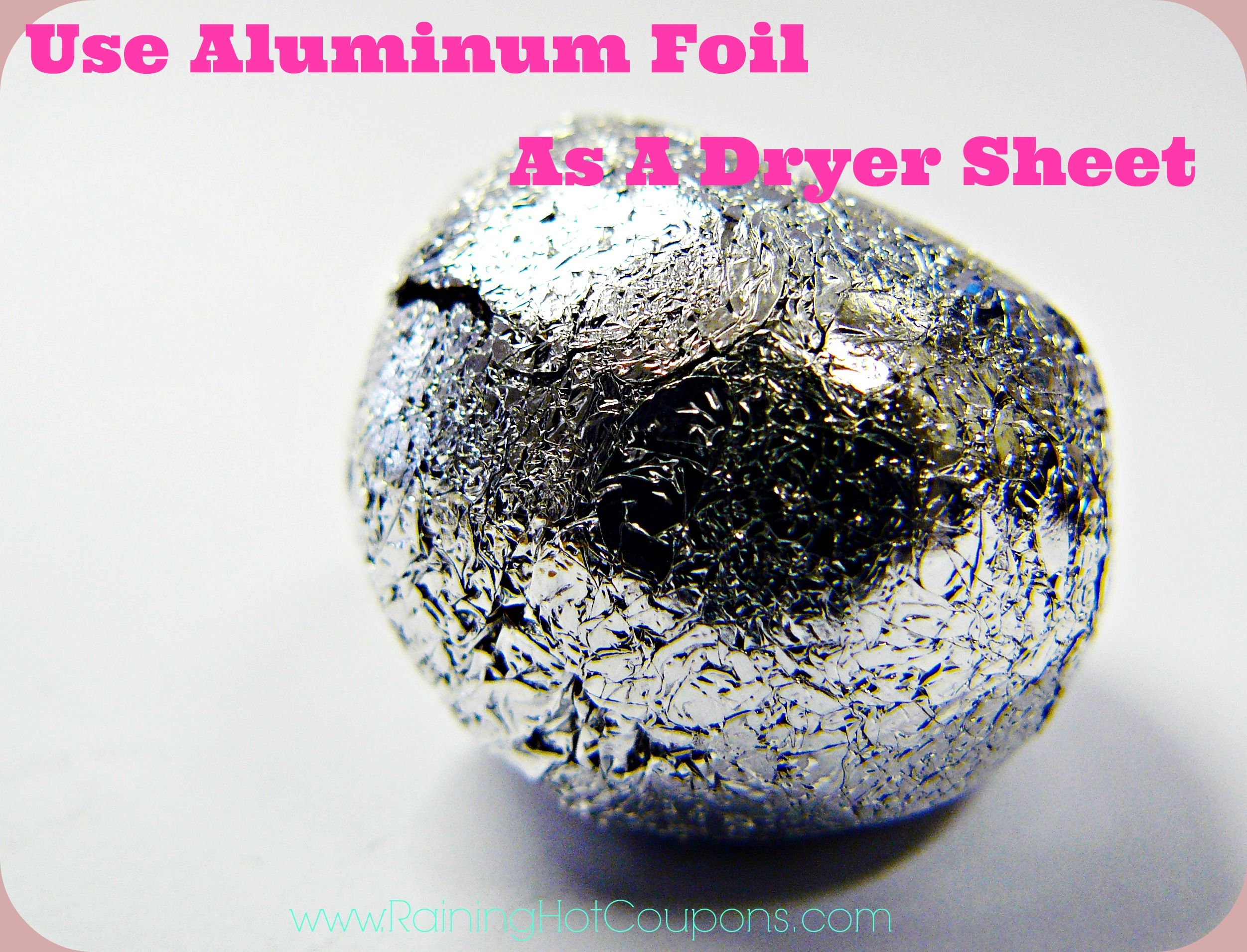 How To Use Aluminum Foil As A Dryer Sheet Aluminum Foil Household Hacks Static Cling
