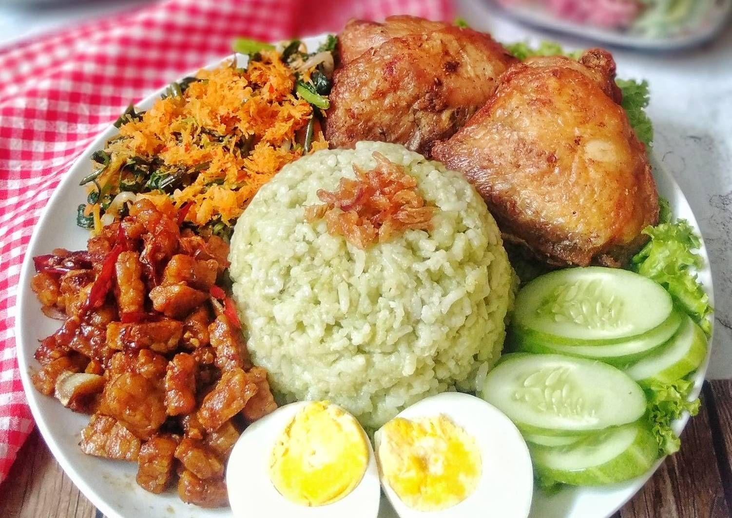 Resep Nasi Lemak Hijau Pandan Oleh Susan Mellyani Resep Makanan Nasi Lemak Diet