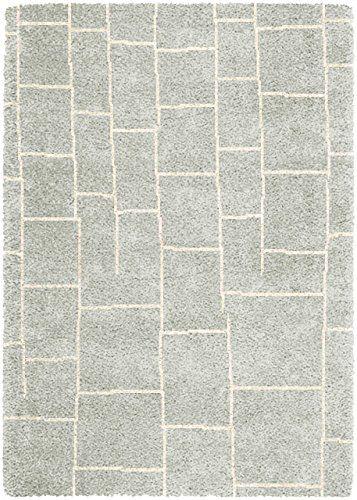 Teppich Wohnzimmer Carpet hochflor Design LOGAN STEPS UNI RUG 100 - Teppich Wohnzimmer Braun