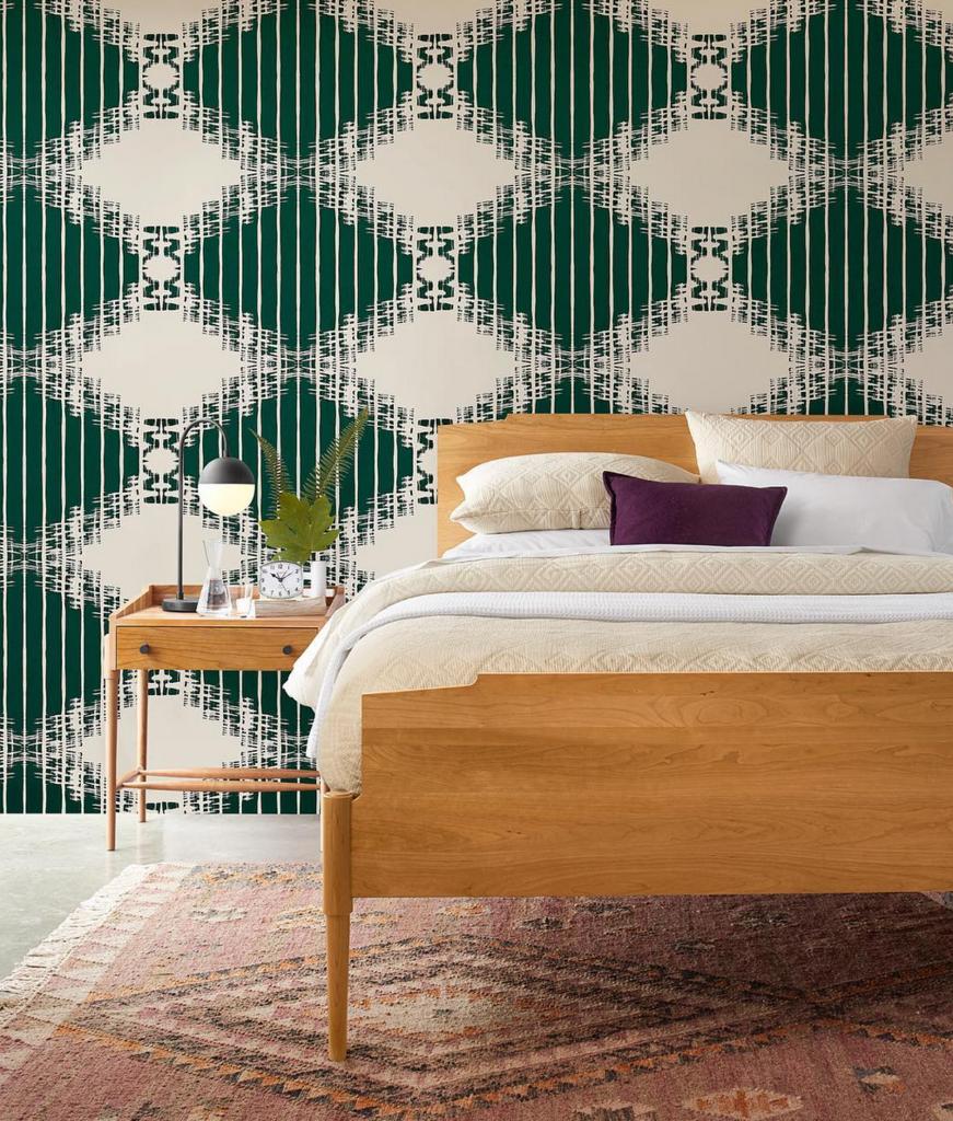 Pine furniture furniture making teal wallpaper interior