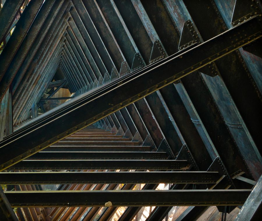 This is the interior of the Redridge Steel Dam, built in 1901. It is one of only three such dams ever built in the United States. It supplied water to Michigan's copper industry.