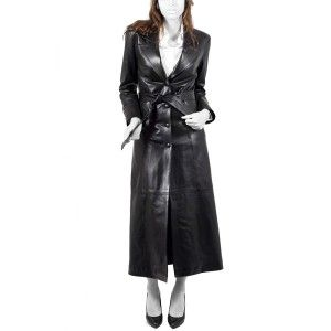 Attractive Long Leather Coat is design for those women, who want ...