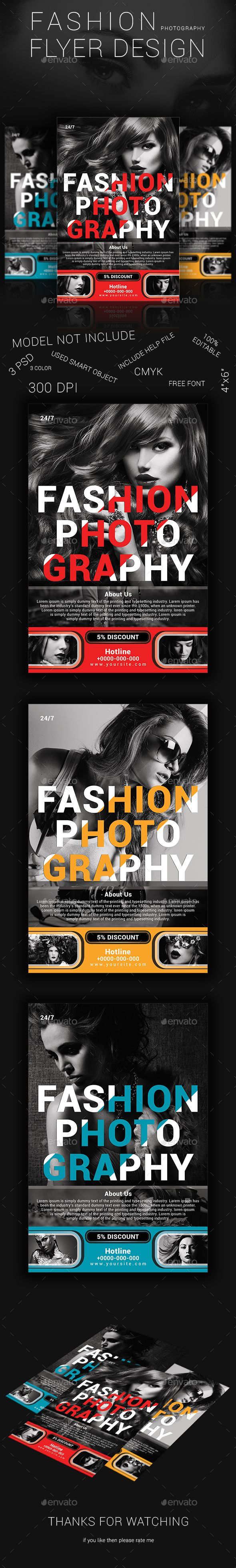 Fashion Photography Flyer Design  Photography Flyer Graphics And